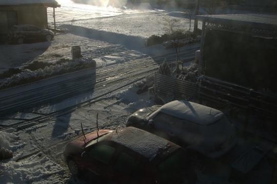 最初の雪景色。.JPG
